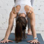 Yoga workout indoors